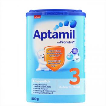 德国Aptamil爱他美婴幼儿配方奶粉3段(10-12个月 800g)