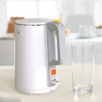 美的(Midea)热水壶烧水壶电水壶304不锈钢1.5L容量电热水壶 HJ1515a