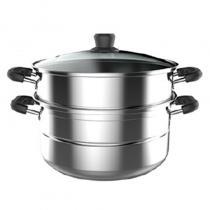美的(Midea) 蒸锅 二层 不锈钢锅 26CM复底锅 ZG26Z01