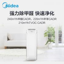 美的(Midea)空气净化器 除甲醛 除菌 除霾净化器 客厅卧室 负离子 新风净化器